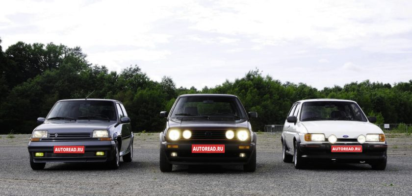 Лучшие хотхэтчи 80 годов volkswagen golf, ford escort turbo, ford fiesta,peugeot 205,gti